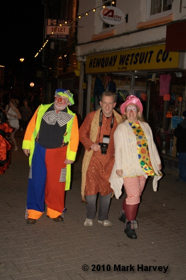 Revellers enjoying the new year atmosphere in Newquay